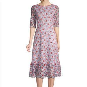 NWT Draper James Collection Floral Lace Midi Dress